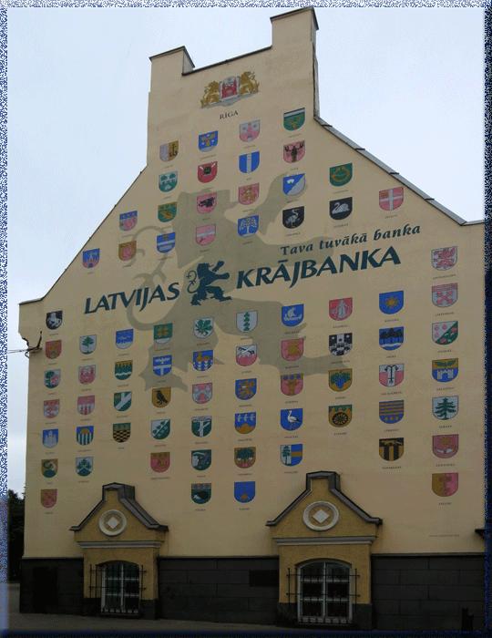Riga, mur aux blasons