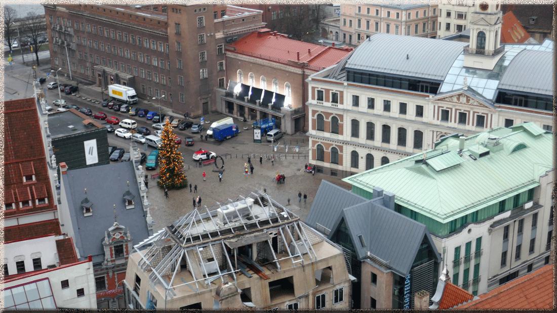 Riga, place de l'Hôtel de ville