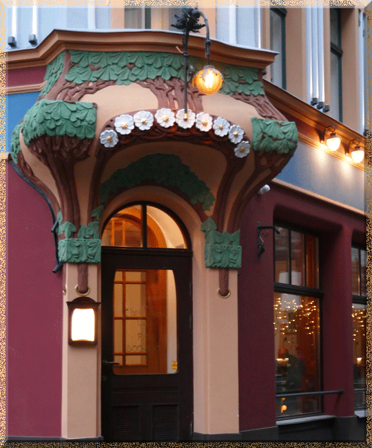Riga, restaurant art nouveau